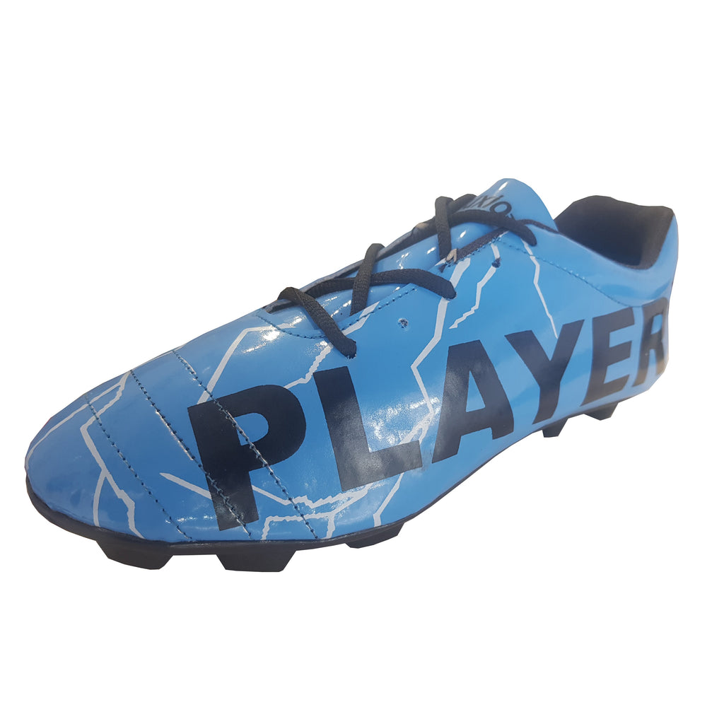 Buy Blue Color Synthetic Unisex Football Shoes