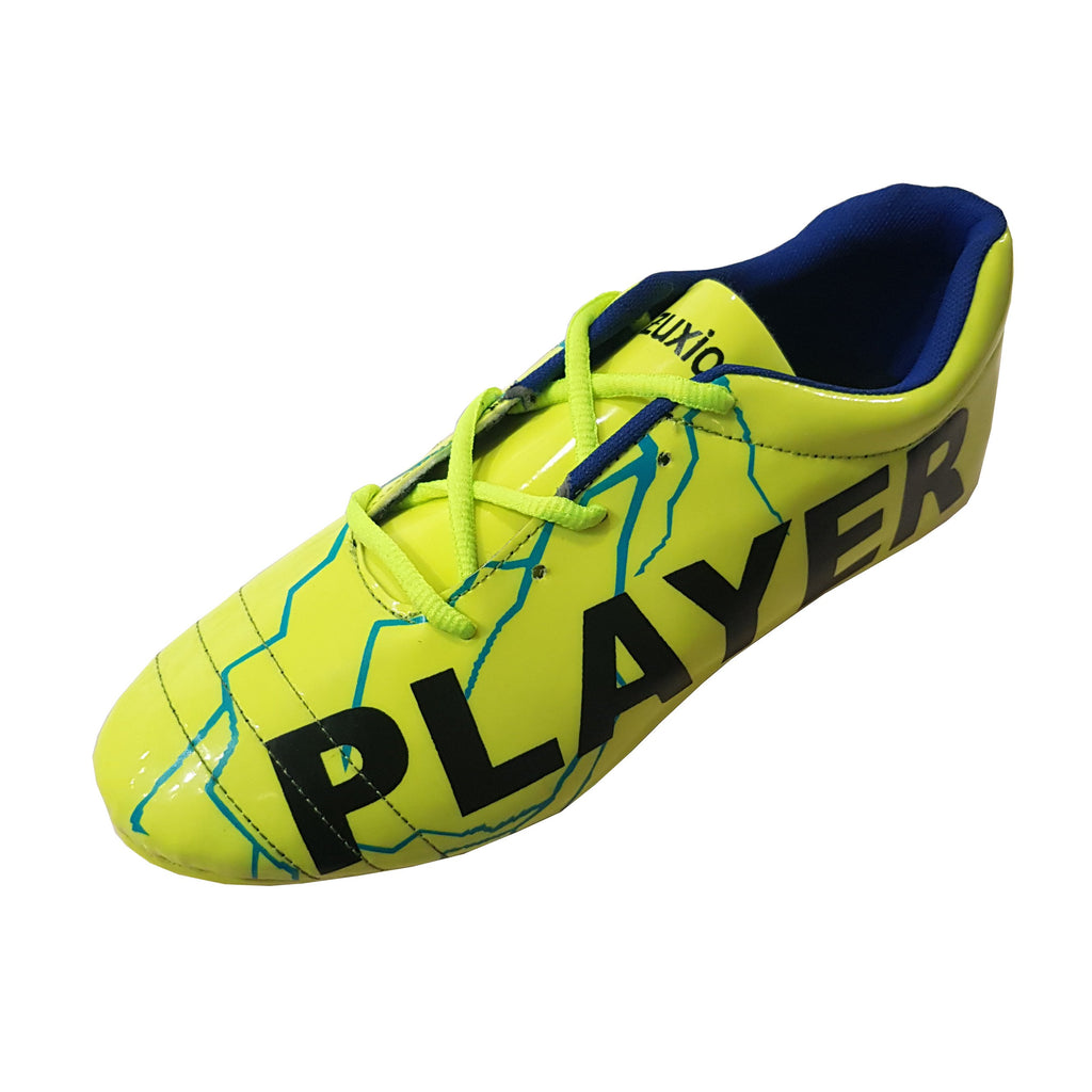 Buy Parrot Green Color Synthetic Unisex Football Shoes
