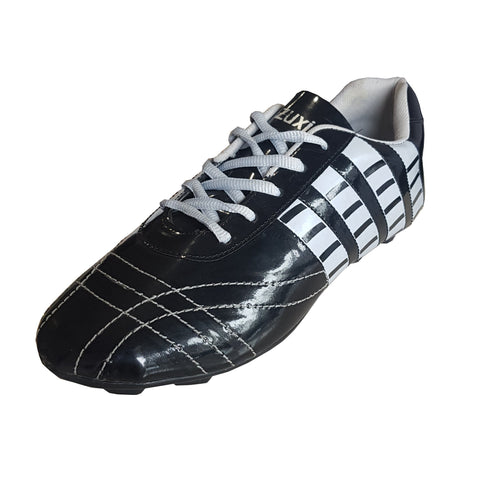 Black Color Synthetic Men Foot Ball Shoe - ZUXIOmodelFBStripeBlack-4