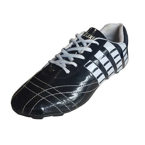 Black Color Synthetic Men Shoe - ZUXIOmodelFBStripeBlack-4