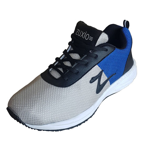 Grey Color Mesh Mens Running - ZUXIOmodelRunGreyBlueMsh