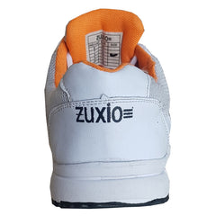 White Color Synthetic Mens Running - ZUXIOmodelRunOrangeStripes