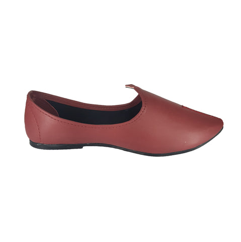 Maroon Color Leatherette Men's Ethnic Wear Shoes - ZUXIOmodelZLJ18302Maroon
