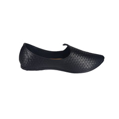 Buy Black Color Leatherette Men's Ethnic Wear Shoes