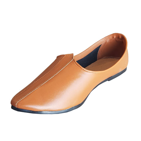 Tan Color Leatherette Jutti  - ZUXIOmodelZLJ18303Tan