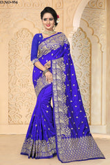 Royal Blue Color Zoya ArtSilk Saree