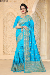 Firoji Color Zoya ArtSilk Saree