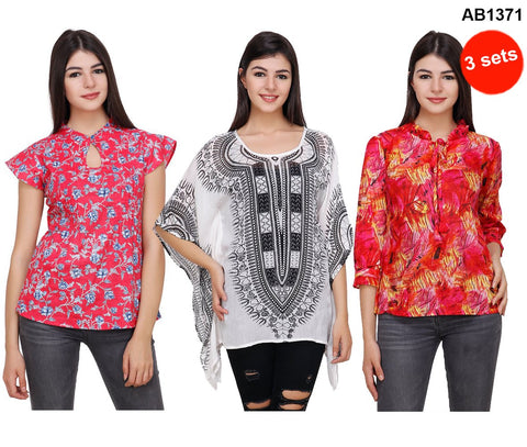 COMBOS-Multi Color Printed Tops - RCTPSS006 , RCTPSS010 , RCTPSS22