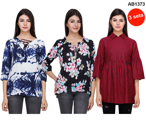 COMBOS-Multi Color Printed Tops - RCTPSS028 , RCTPSS030 , RCTPSS031