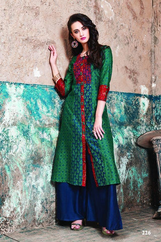 Multi Color Maslin Cotton Stitched Gown - af-424