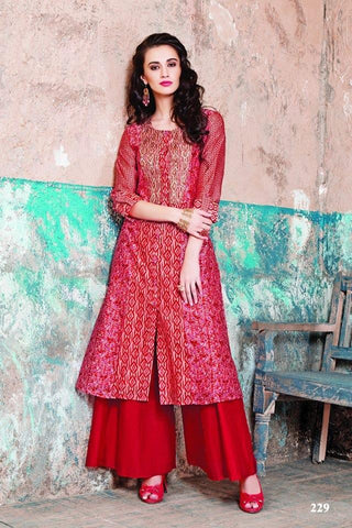 Multi Color Maslin Cotton Stitched Gown - af-425