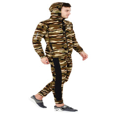 Multi Color Polyster Mens Track Suit - afmts-06-pgreen