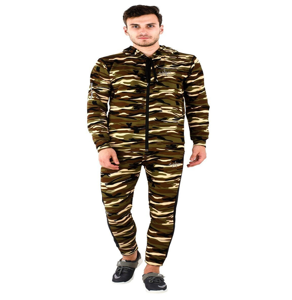 Buy Multi Color Polyster Mens Track Suit