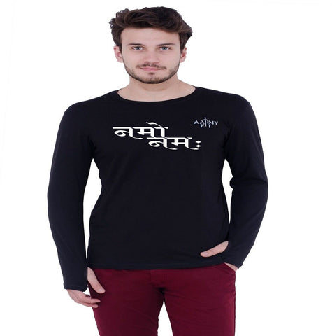 Black Color Cotton Mens Tshirt - afmtshirt-48-namohindi