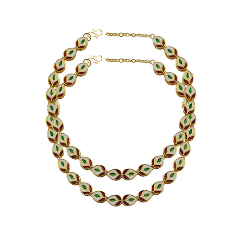 Multi Color Meenakari-Gold Platted Brass Anklets - ank271