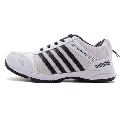 White Color Mesh Men Shoe - asian white