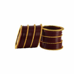 Buy Maroon Color Gold Platted Acrylic-Brass Bangle