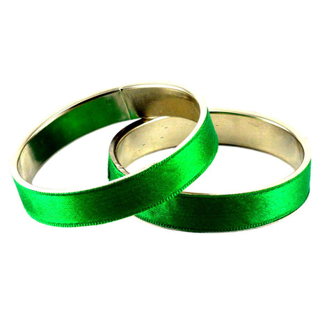 Green Color Plain Brass Bangle - ban1234