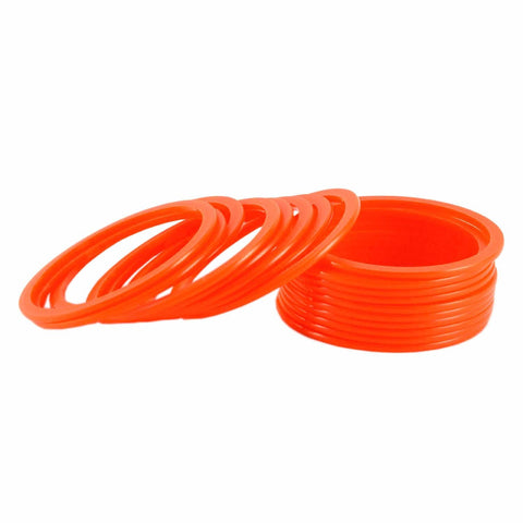 Orange Color Plain Acrylic-Brass Bangle - ban1284