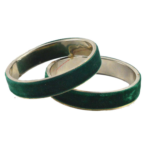 Green Color Plain Brass Bangle - ban1362