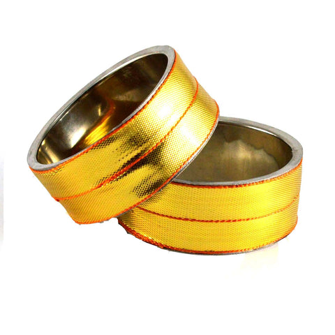 Golden Color Plain Brass Bangle - ban1374