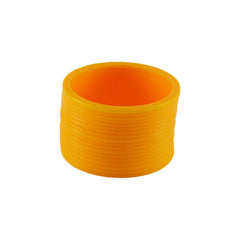 Yellow Color Plain Acrylic-Brass Bangle - ban1411