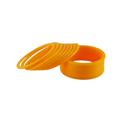 Buy Yellow Color Plain Acrylic-Brass Bangle