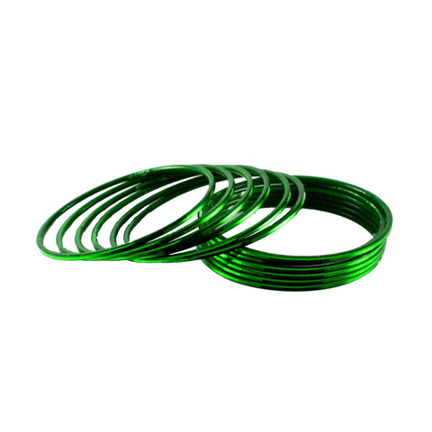 Green Color Plain Brass Bangle - ban1415