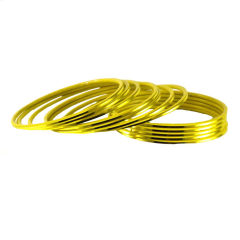 Yellow Color Plain Brass Bangle - ban1421