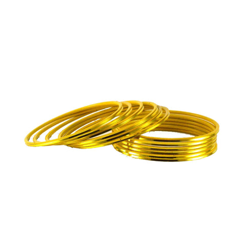 Yellow Color Plain Brass Bangle - ban1422