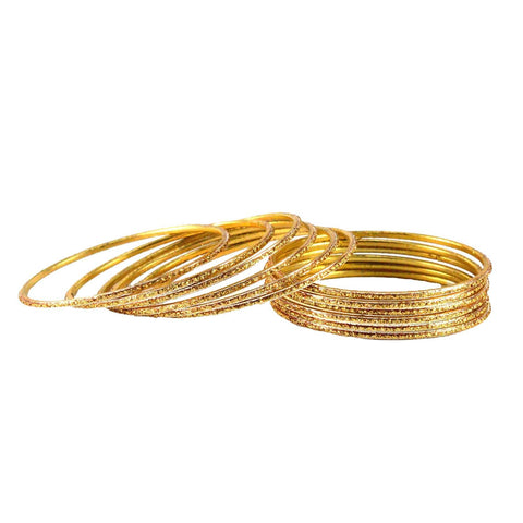 Golden Color Plain Brass Bangle - ban1423