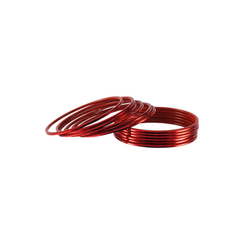 Red Color Plain Brass Bangle - ban1426