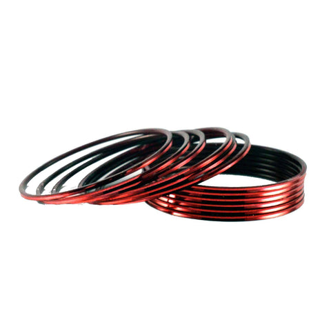 Maroon Color Plain Brass Bangle - ban1427