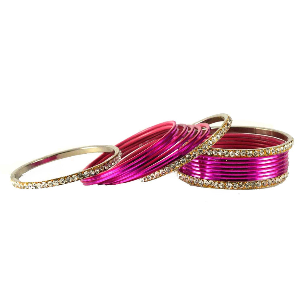 Buy Rani Color Stone Stud Brass Bangle