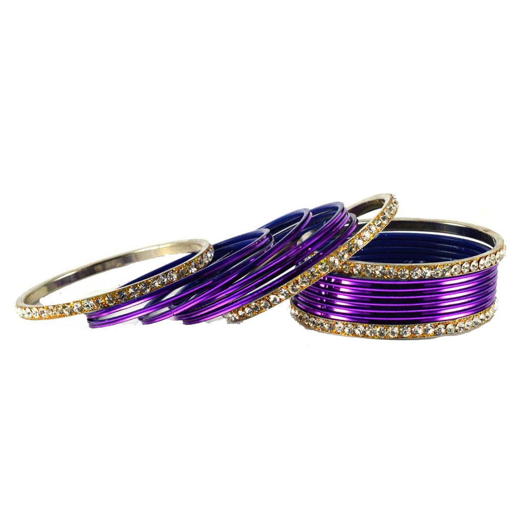 Buy Jamani Color Stone Stud Brass Bangle