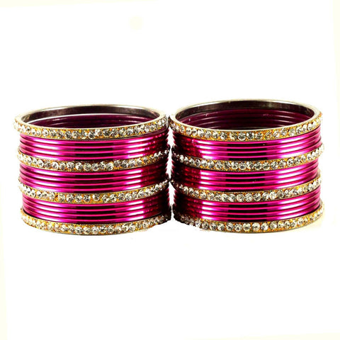 Rani Color Stone Stud Brass Bangle - ban1490
