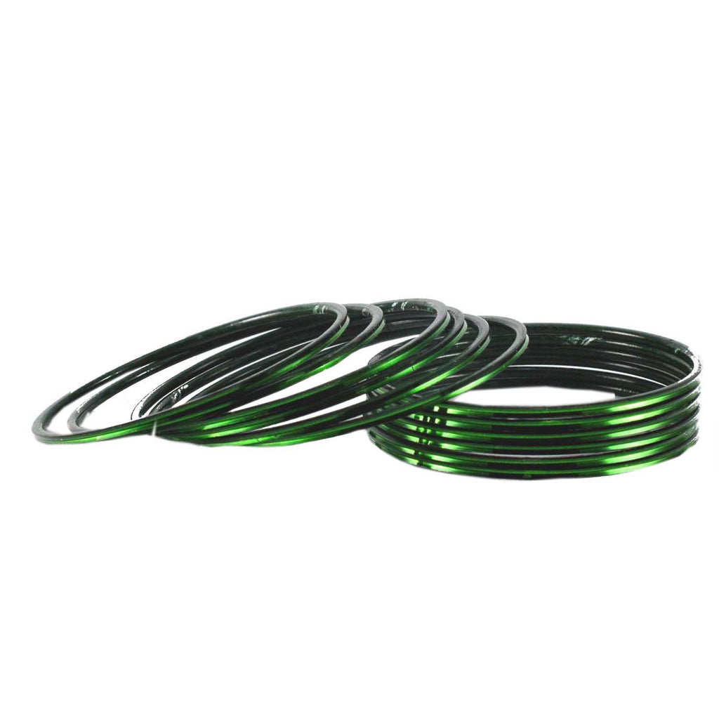 Buy Green Color Plain Brass Bangle