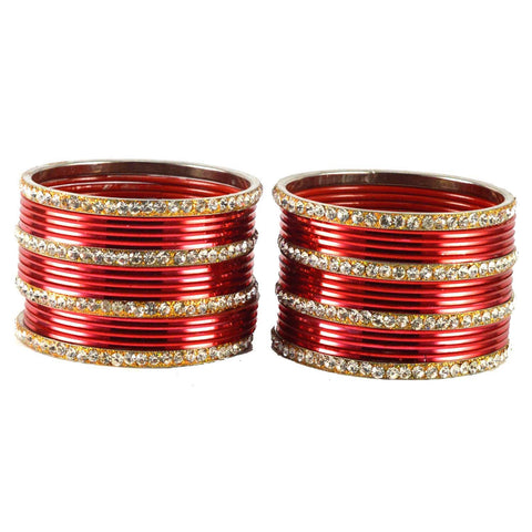 Red Color Brass Bangle  - ban1516