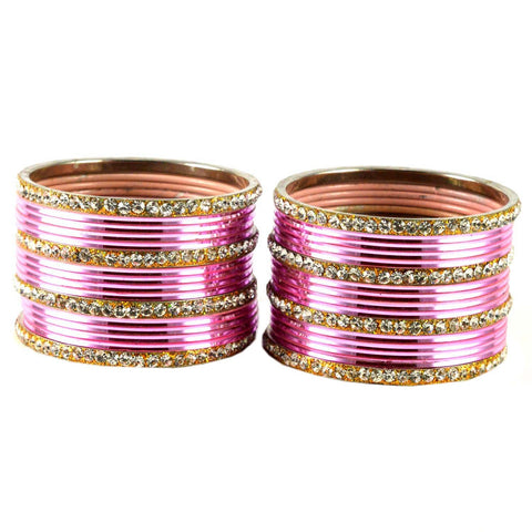 Pink Color Brass Bangle  - ban1518