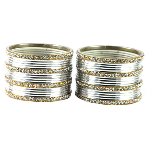 White Color Brass Bangle  - ban1520