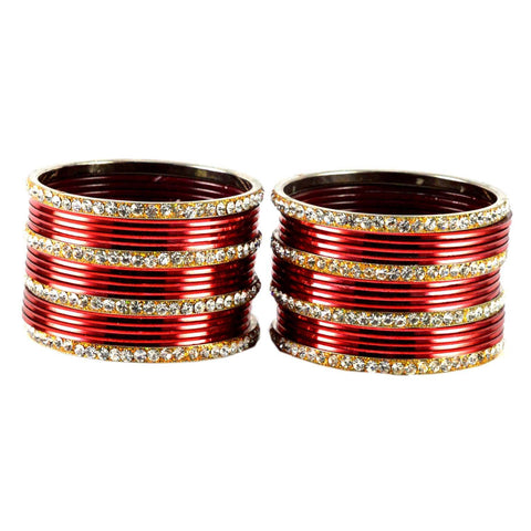 Maroon Color Brass Bangle  - ban1522