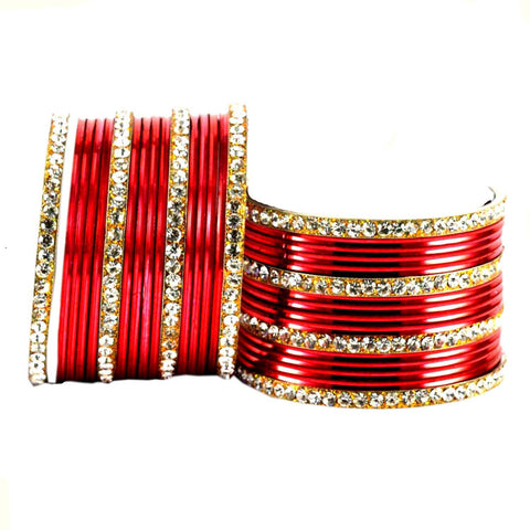 Red Color Brass Bangle  - ban1541