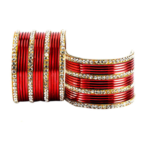 Maroon Color Brass Bangle  - ban1544