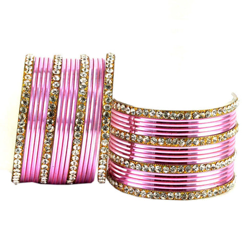 Pink Color Brass Bangle  - ban1546