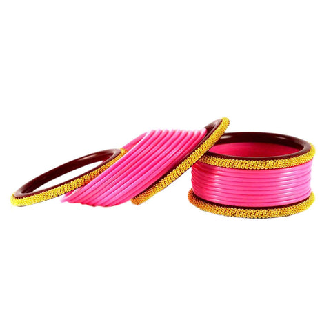 Pink Color Acrylic Bangle  - ban1551