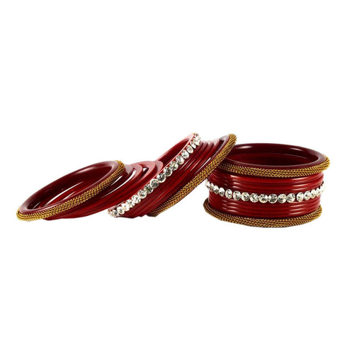Red Color Acrylic Bangle  - ban1564