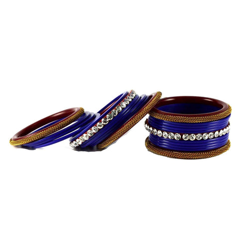 Blue Color Acrylic Bangle  - ban1567