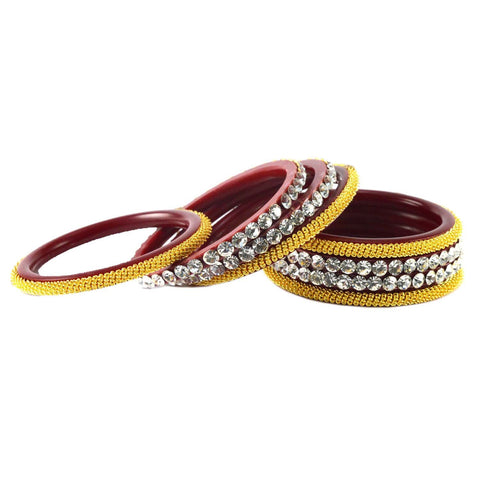 Red Color Acrylic Bangle  - ban1575