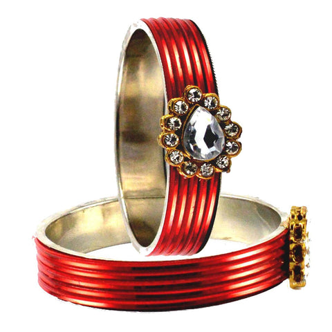 Red Color Acrylic Bangle  - ban1576