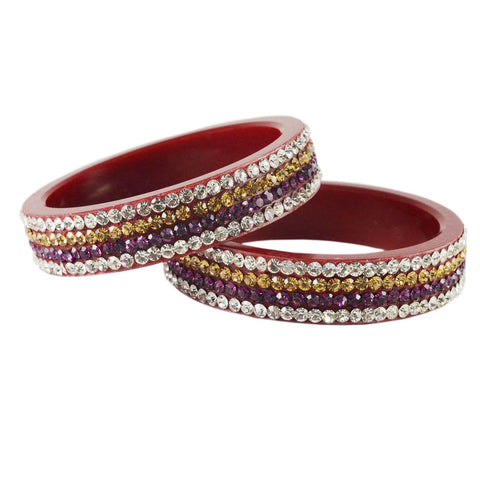 Red Color Acrylic Bangle  - ban1578